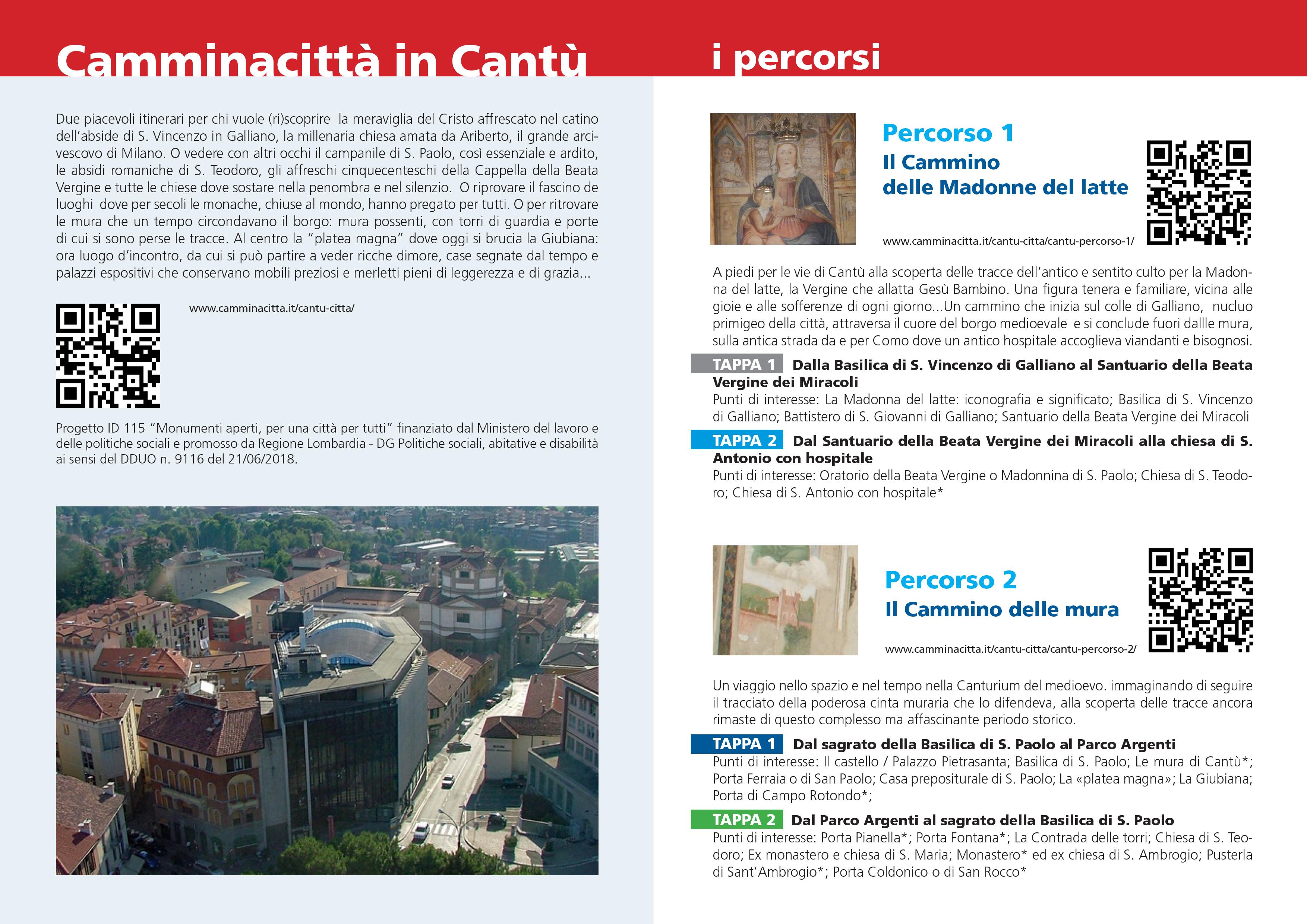 nuovi percorsi in Cantù