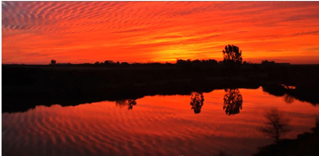 tramonto sulla Via de la Plata