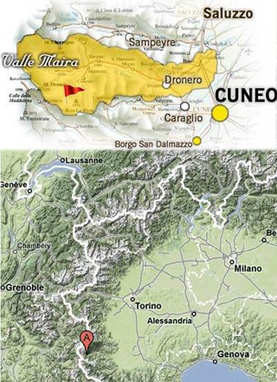 Mappa Valle Maira e Gardetta
