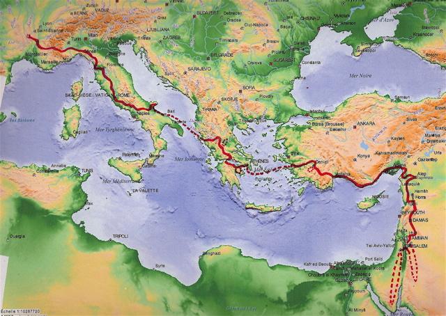 mappa generale Cammino di Christophe