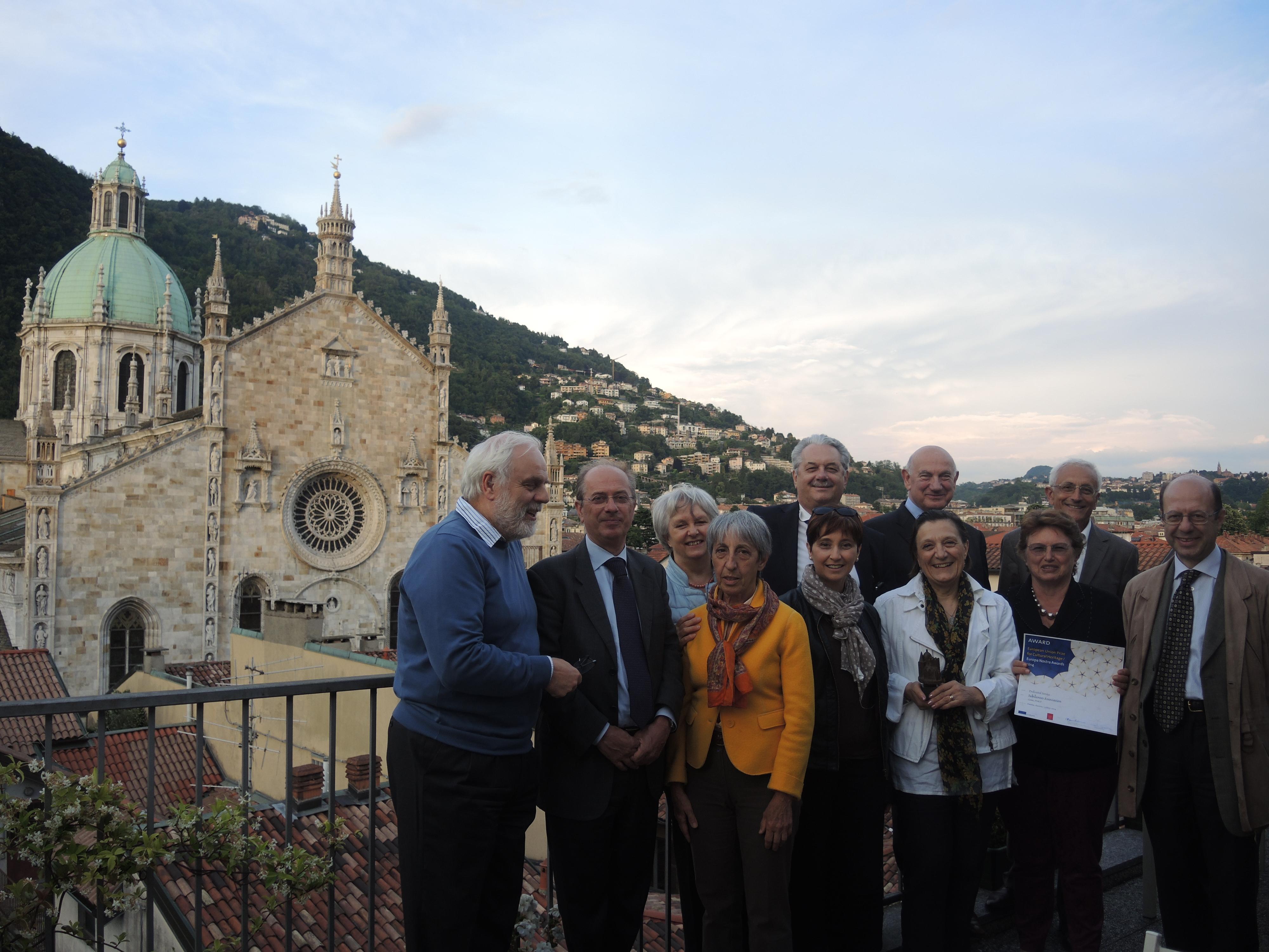 settembre 2014 Il Consiglio Direttivo di IUBILANTES con il Premio Europa Nostra e il diplomna