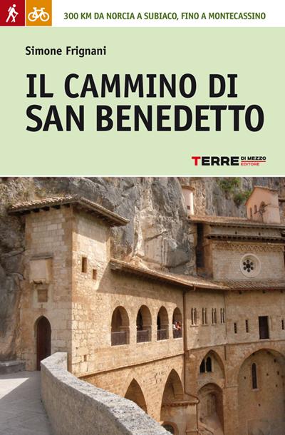 Copetina della guida del Cammino di san Benedetto