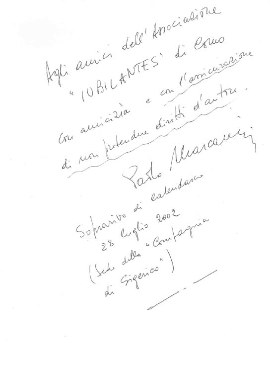 la decia di Paolo Marcarini, autore della musica